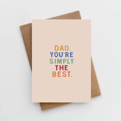 'Dad, You're Simply The Best' Father's Day Card