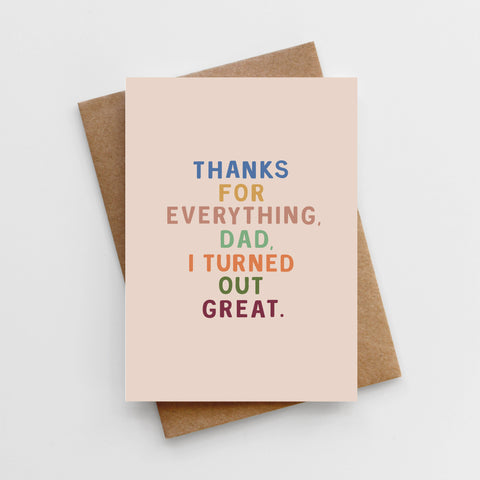 'Thanks For Everything, Dad' Father's Day Card