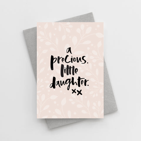 'A Precious, Little Daughter' New Baby Girl Card