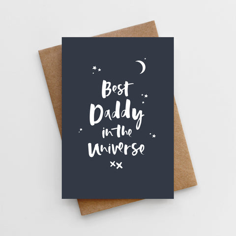 'Best Daddy in the Universe' Father's Day Card