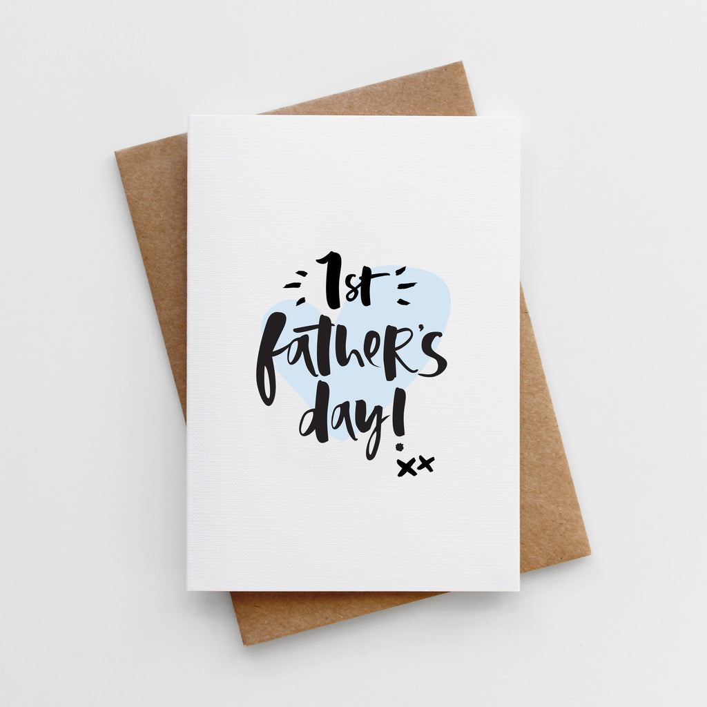 'First Father's Day' Father's Day Card