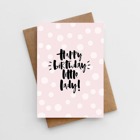 'Happy Birthday, Little Lady' Card