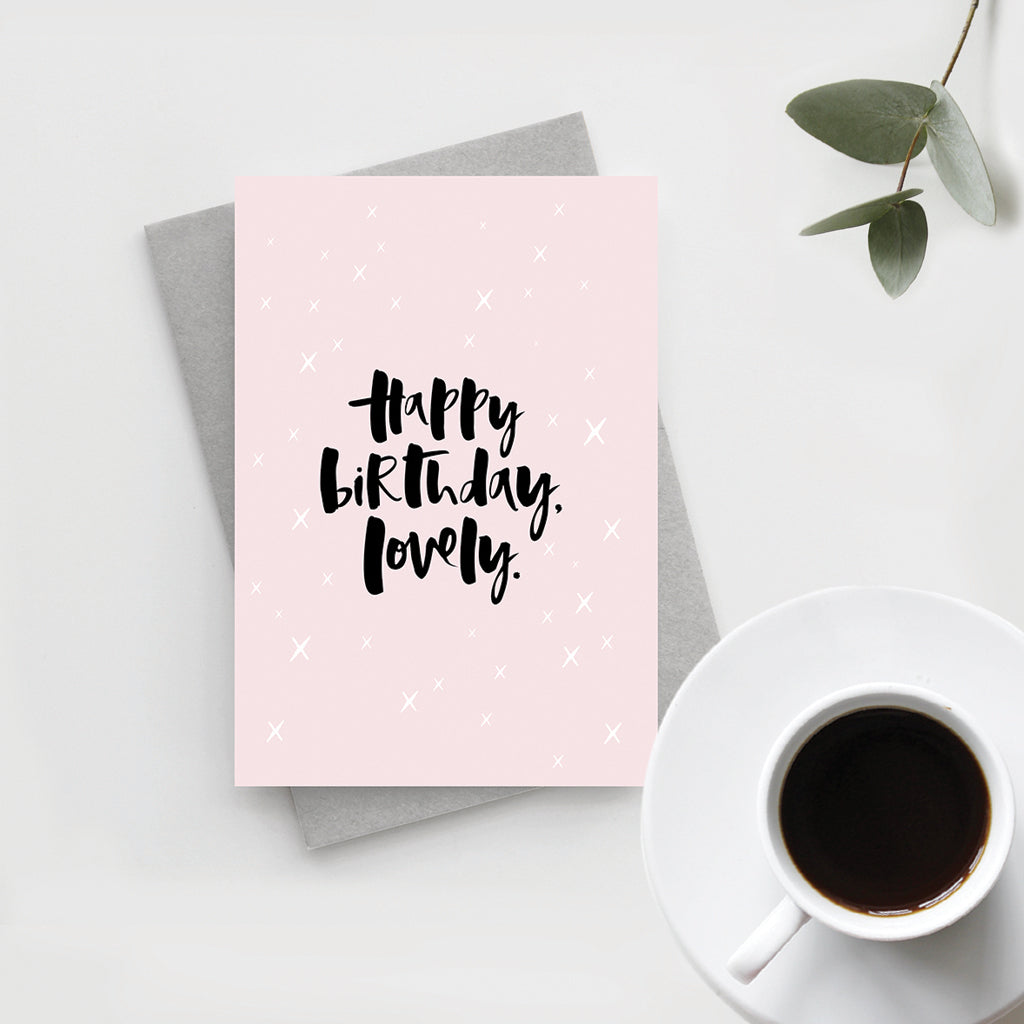'Happy Birthday, Lovely' Card