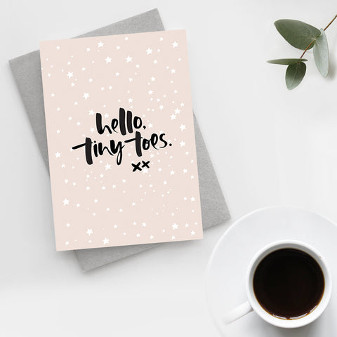 'Hello, Tiny Toes' Unisex New Baby Card