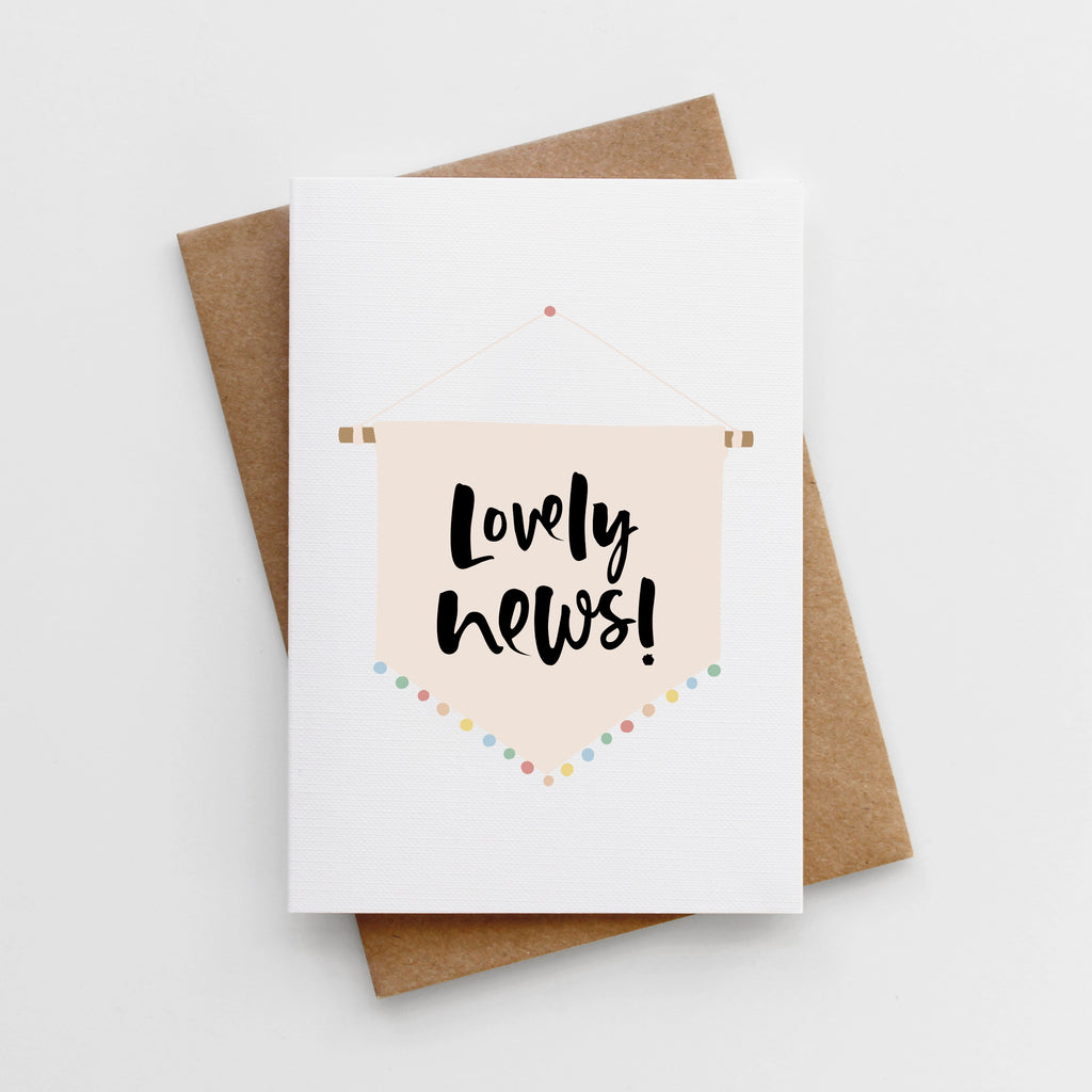 'Lovely News' Card