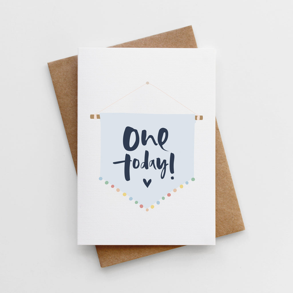 'One Today' Boys First Birthday Card