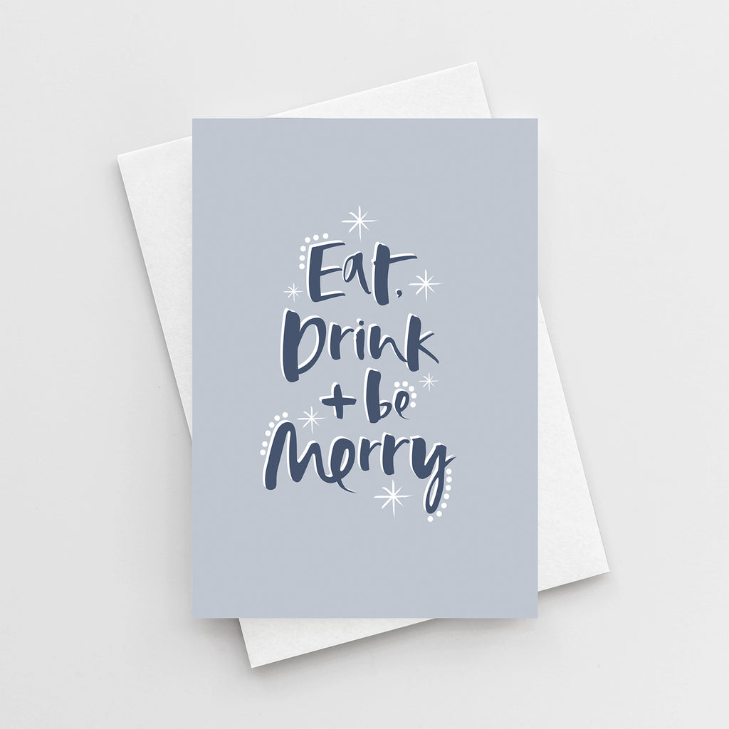 'Eat, Drink & Be Merry' Christmas Card