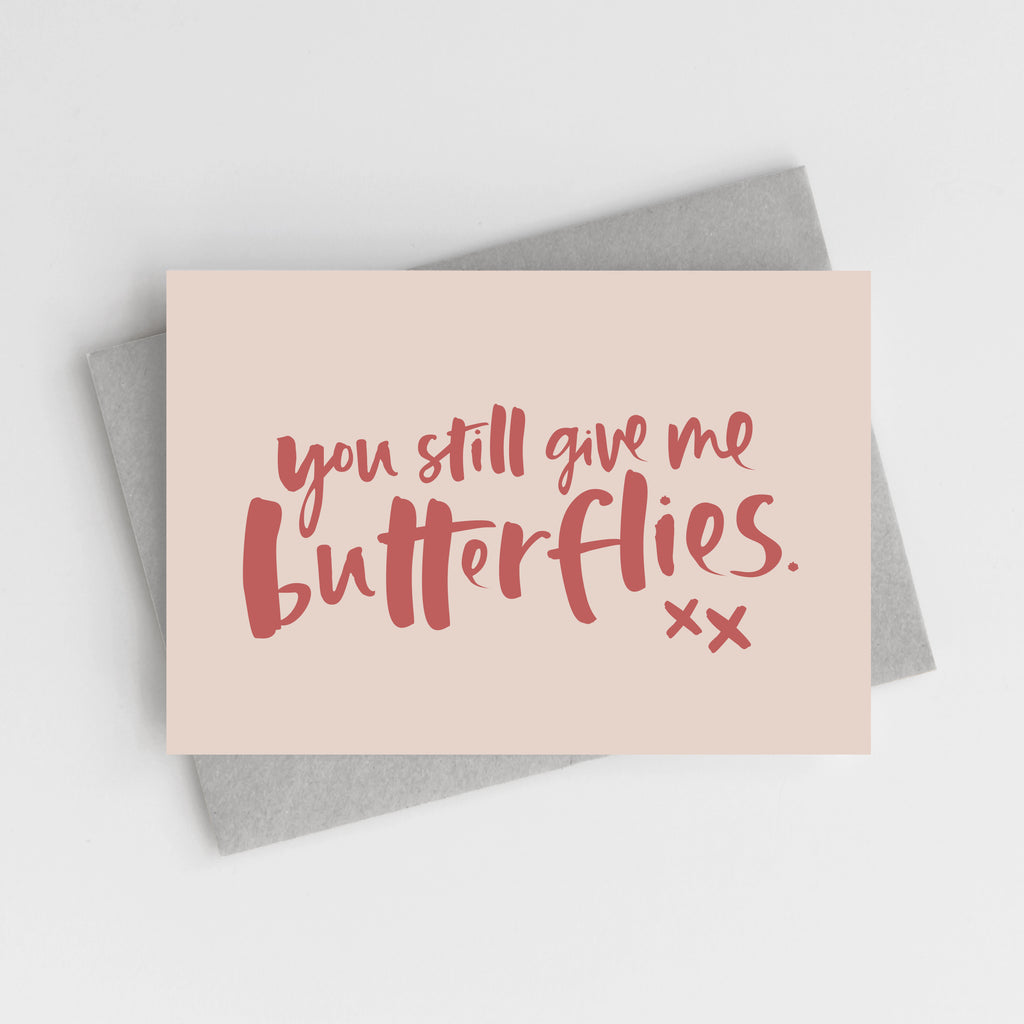 'You Still Give Me Butterflies' Valentine's Card