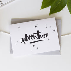 Adventure Hand Lettered Greeting Card