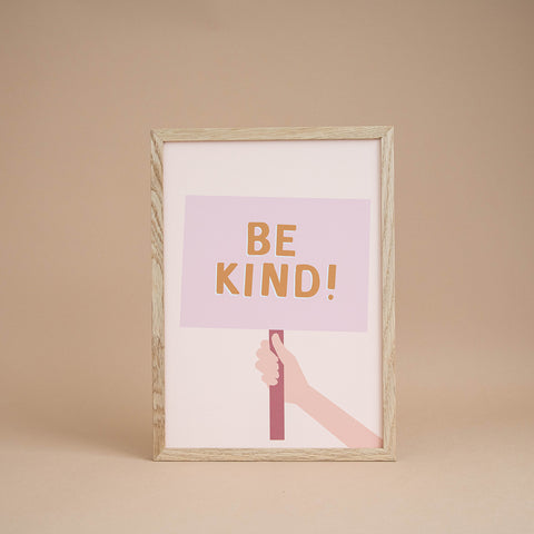'Be Kind' Girl's Print