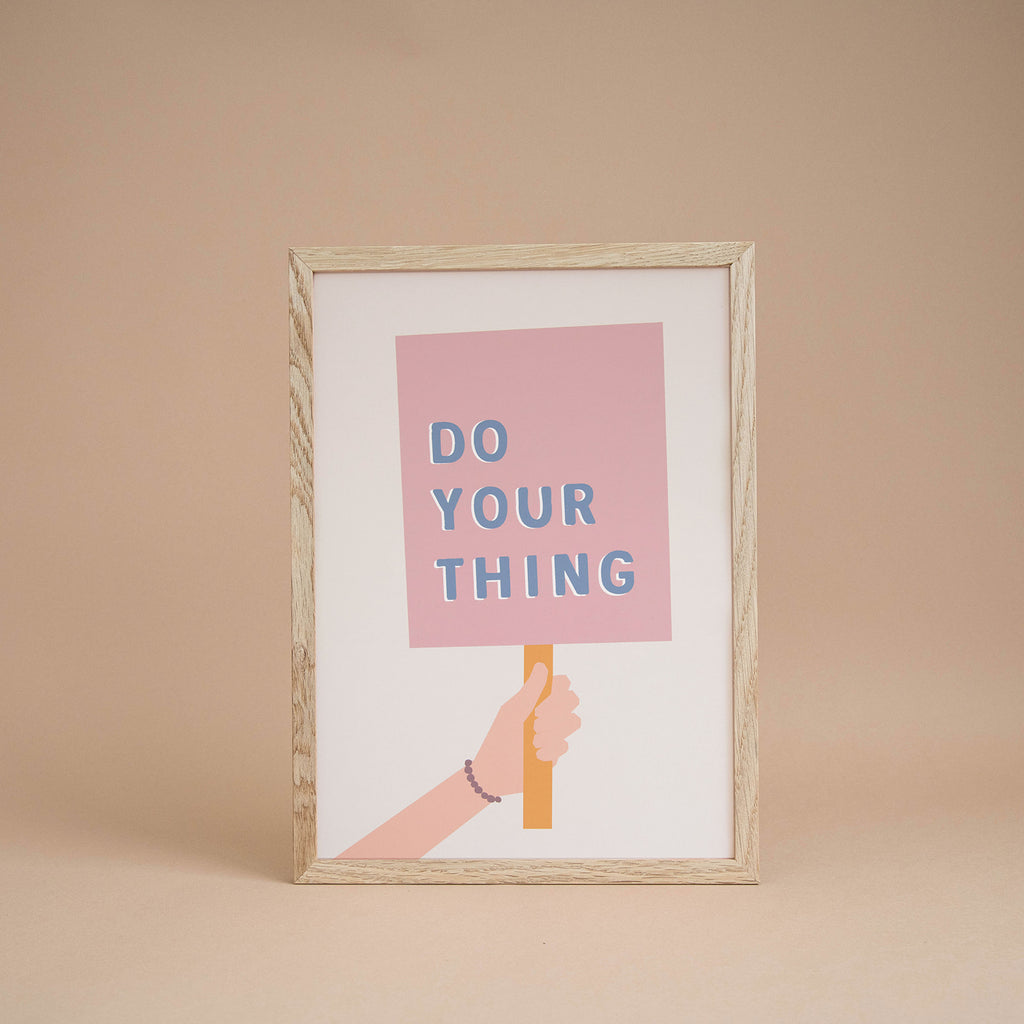 'Do Your Thing' Girl's Print