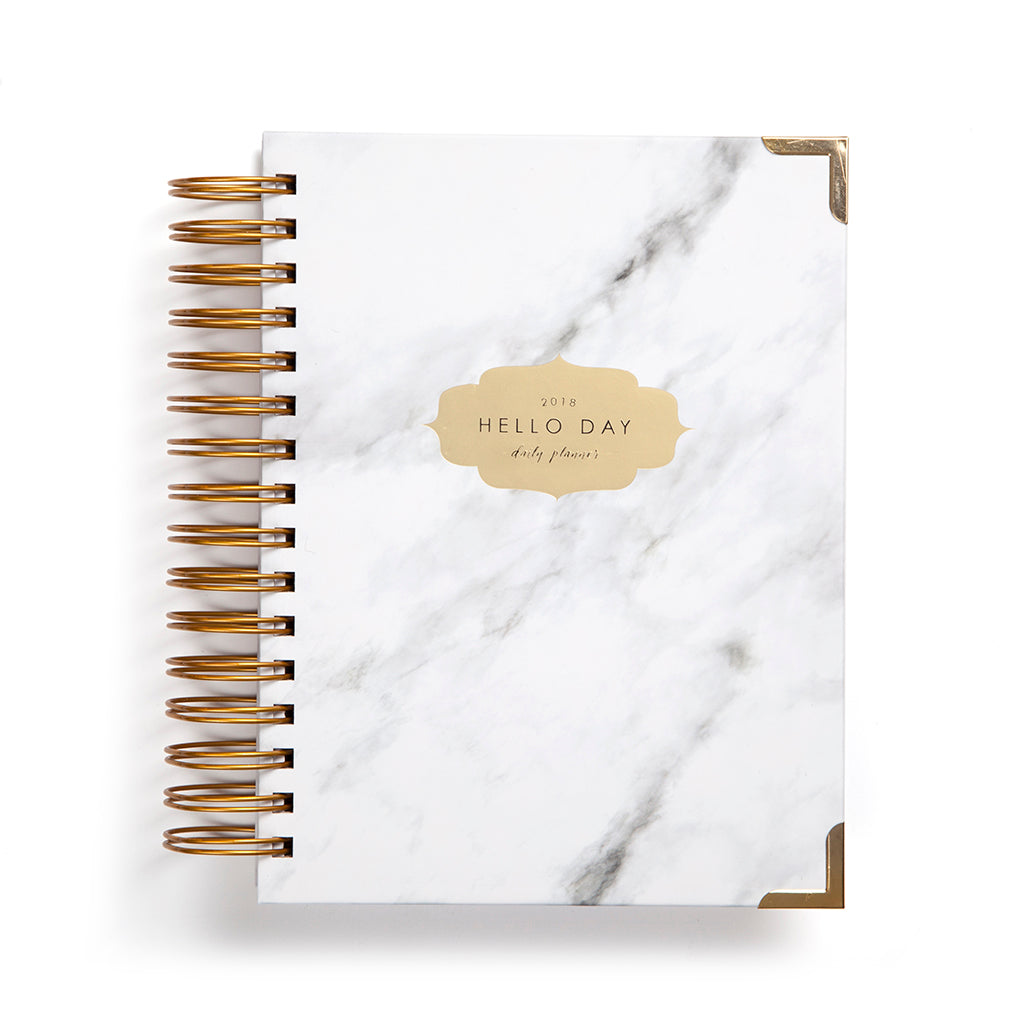 Carrara - Minimal 2018 Daily Planner By Hello Day