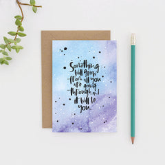 Grow Hand Lettered Greeting Card