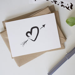 Pack of Six Inky Love Notecards and Envelopes