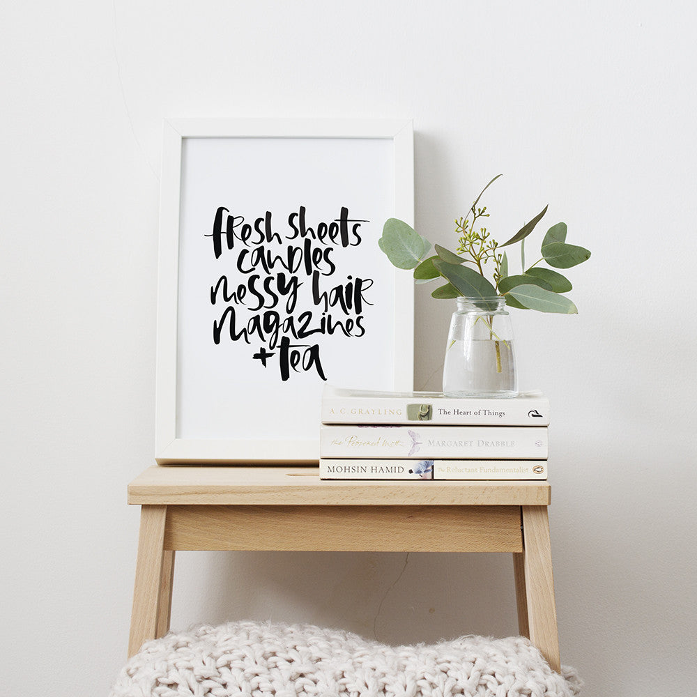 Night In Hand Lettered Print