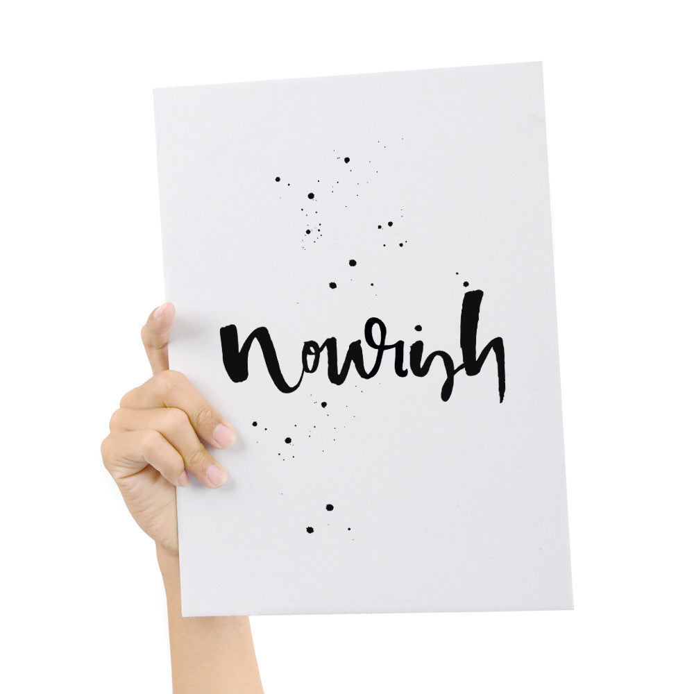 Freedom Collection Hand Lettered Nourish Print