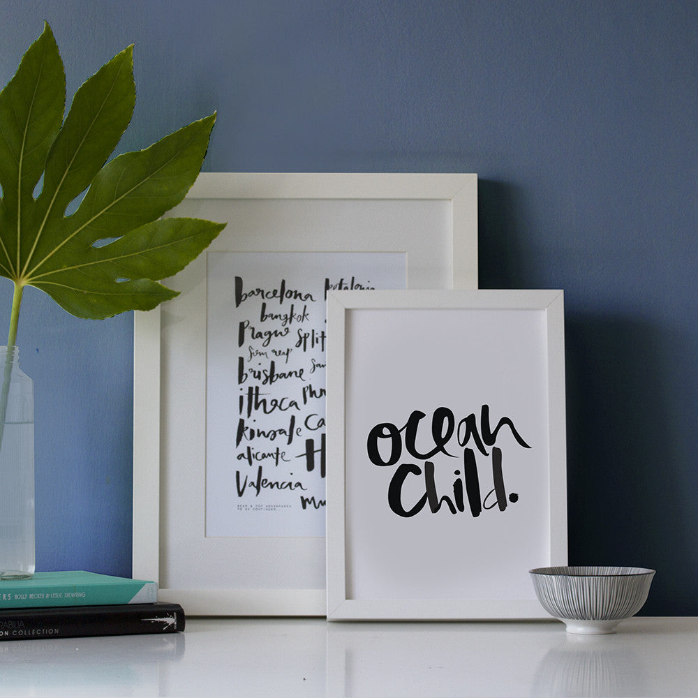 ocean chil print framing example