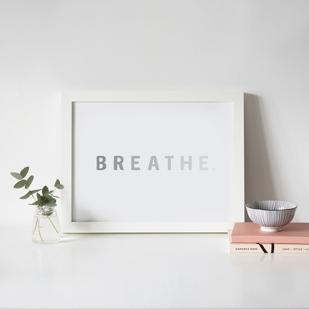 Spirit Collection Breathe Hand Lettered Print