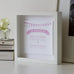 Classic Collection Personalised Wedding Box Frame Blush Side View