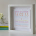 Contemporary Collection Personalised Wedding Box Frame Summer Side View