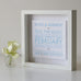 Original Collection Personalised Wedding Box Frame Ocean Side View