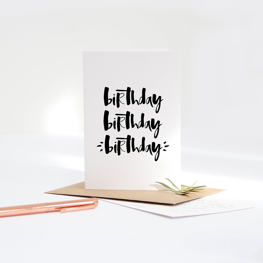 'Birthday Birthday Birthday' Card