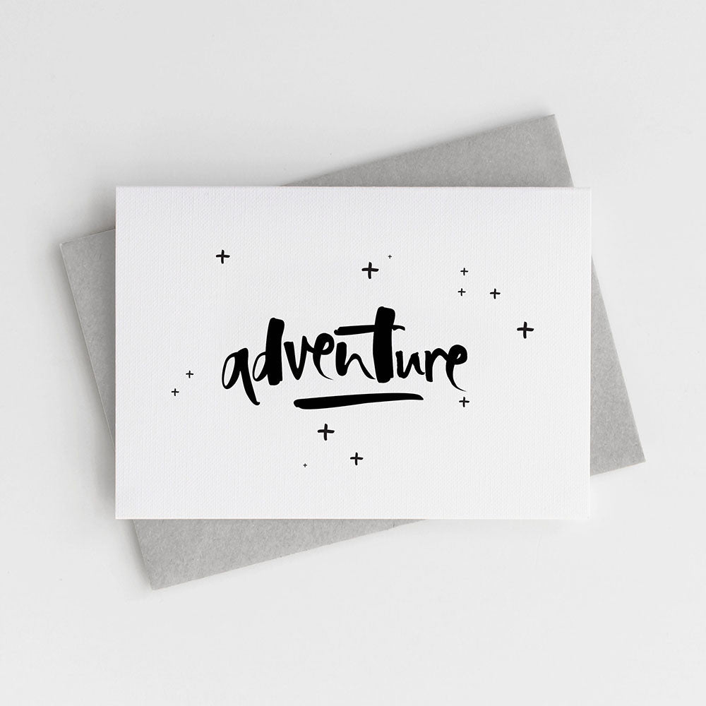 The perfect farewell card! 'Adventure' awaits!