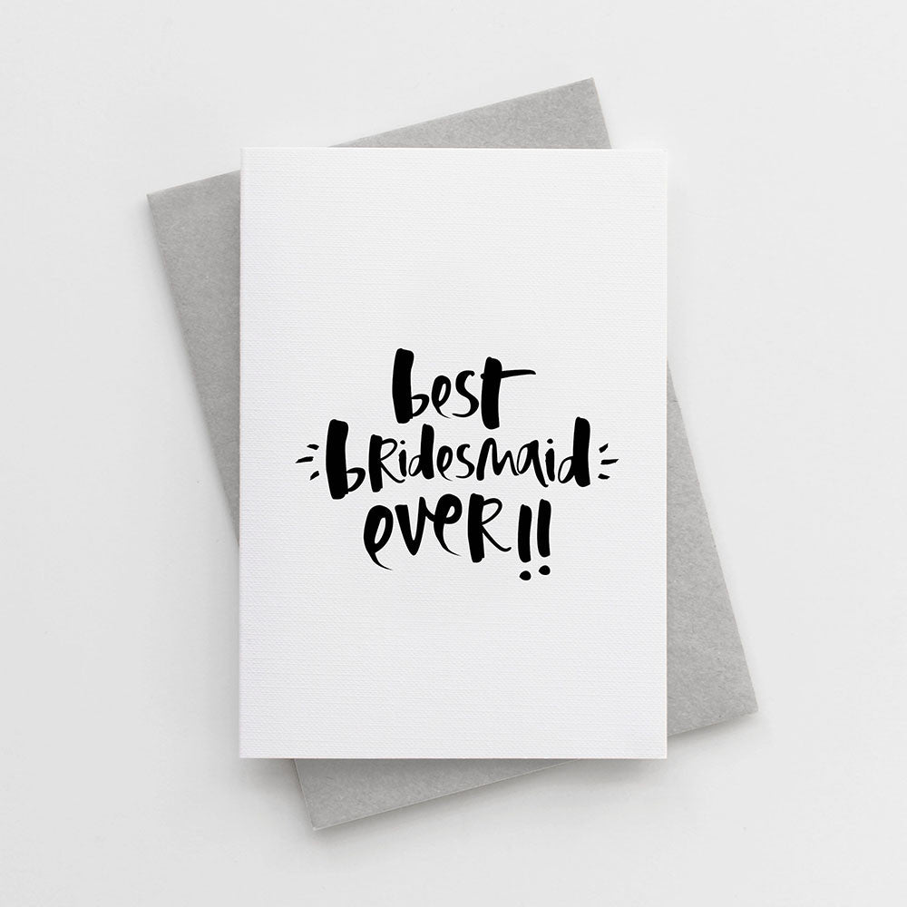 'Best Bridesmaid Ever' Card