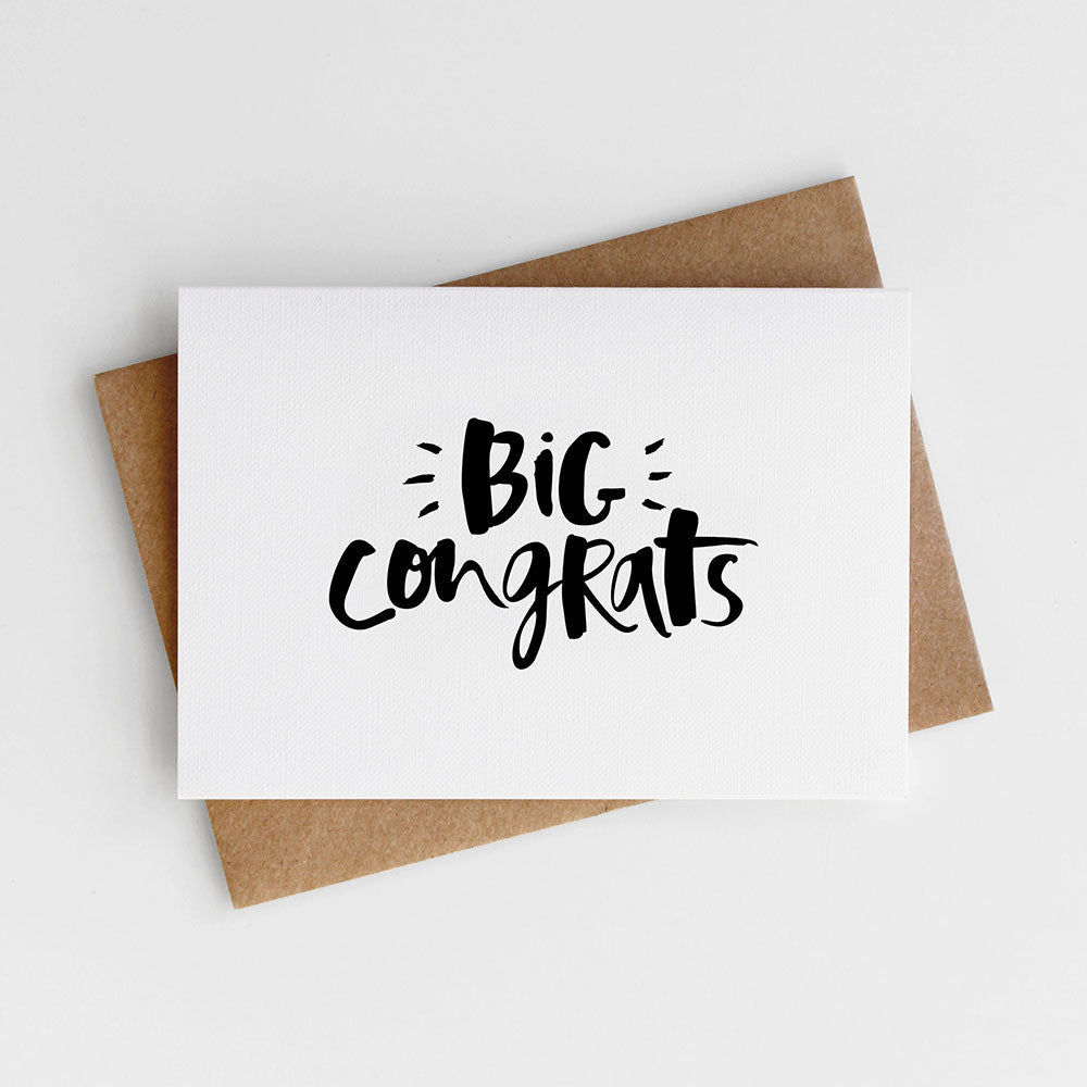 A classic and simple congratulations card