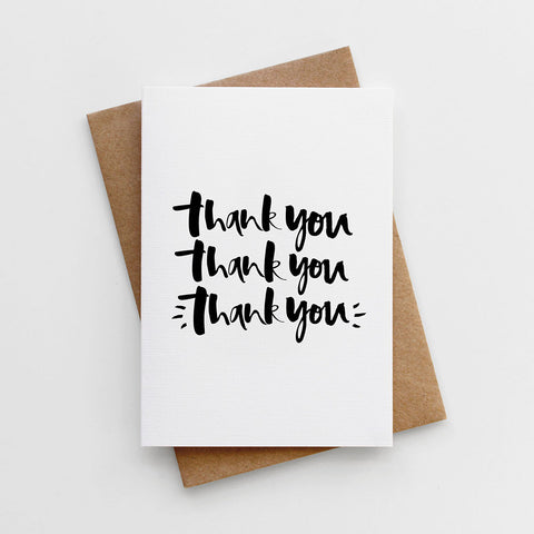 Hand Lettered Thank You Card