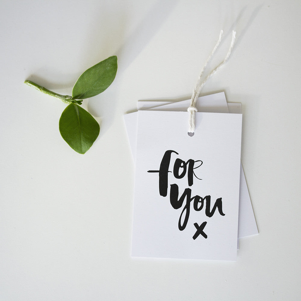 'For You' Gift Tags - Pack of Six