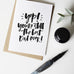 Best Dad Ever Hand Lettered Greeting Card