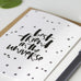 Best Friend in the Universe Hand Lettered Greeting Card