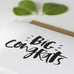 Big Congrats Hand Lettered Greeting Card