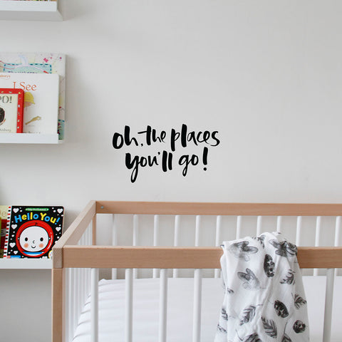 'Oh, The Places You'll Go!' Wall Decal