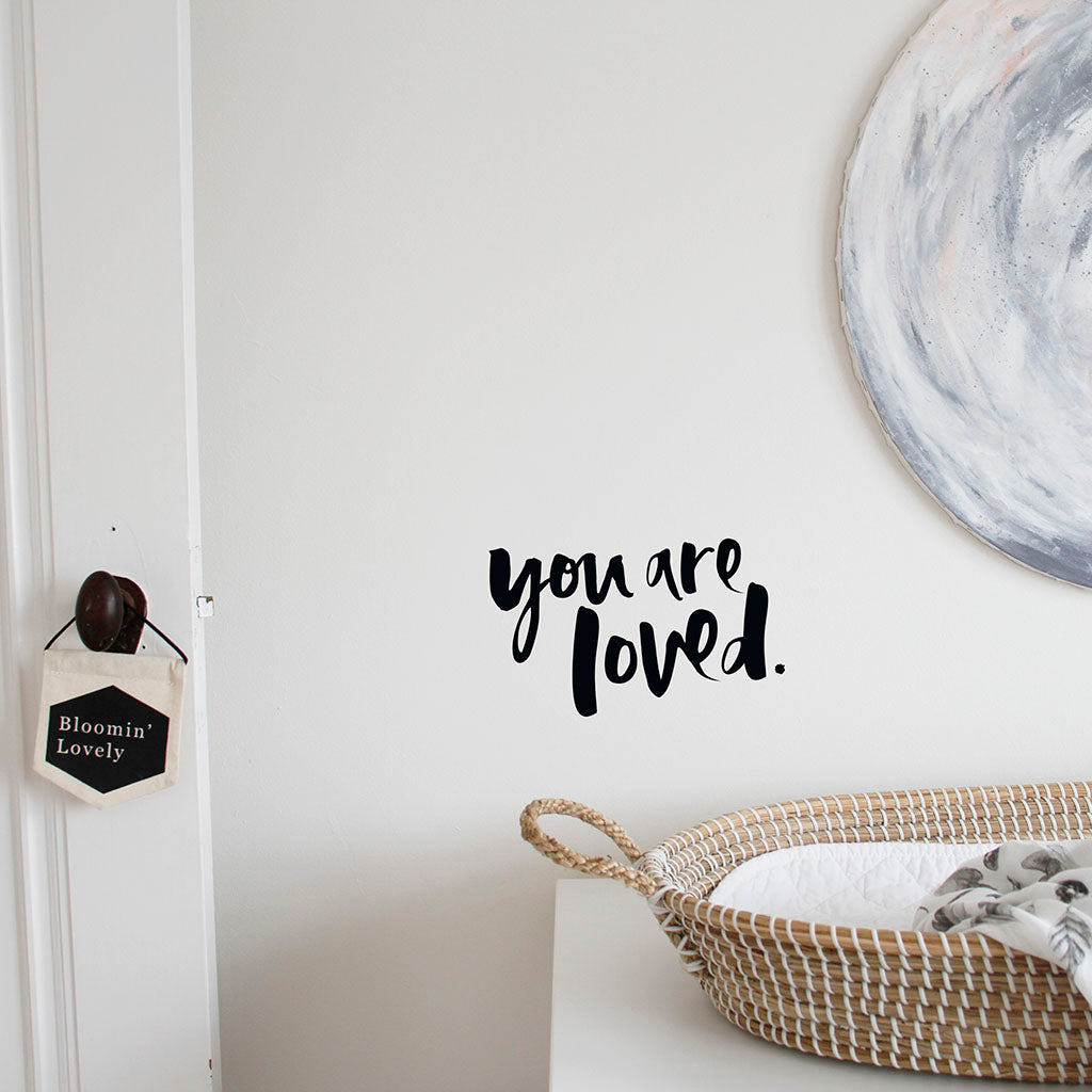 'You Are Loved' Wall Decal