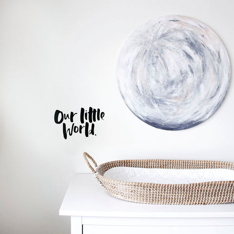 'Our Little World' Wall Decal