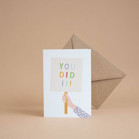 'You Did It' Card