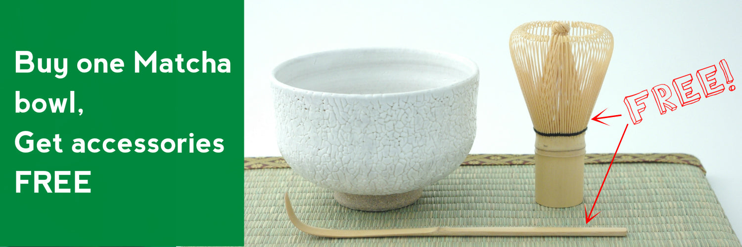 Japanese matcha bowl with accessories for free | JPAP - Japanese tableware and fine gifts