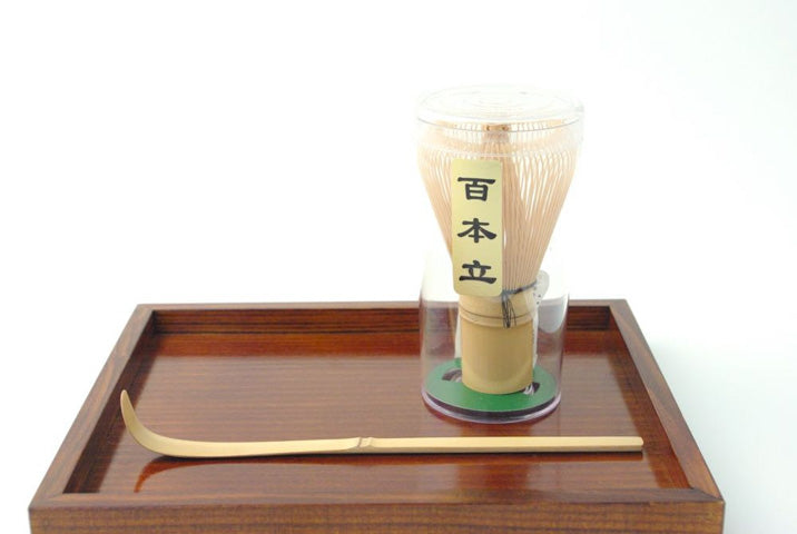 Set of Chasen Matcha scoop and Chashaku Matcha tea whisk by JPAP - Japanese tableware and fine gifts