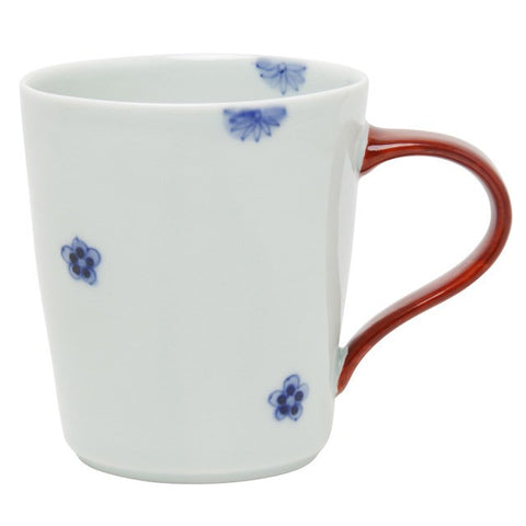 Mug 320ml, Small Flowers/Red  | jpap.club – Japanese Tableware and Fine Gifts