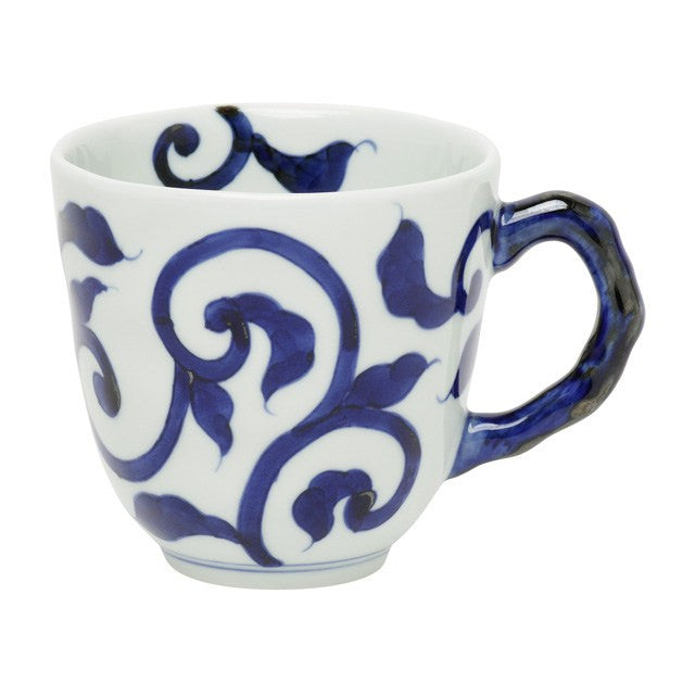 Mug 330ml, Karakusa / Blue  | jpap.club – Japanese Tableware and Fine Gifts