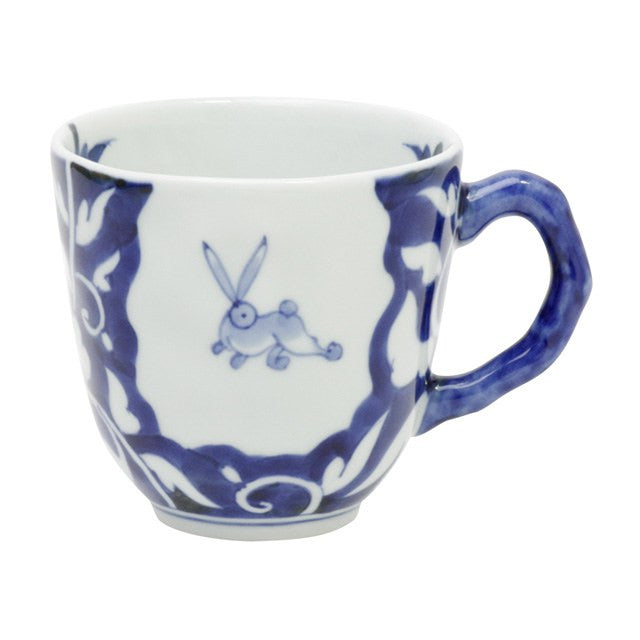 Mug 330ml, Usagi-karakusa / Blue  | jpap.club – Japanese Tableware and Fine Gifts