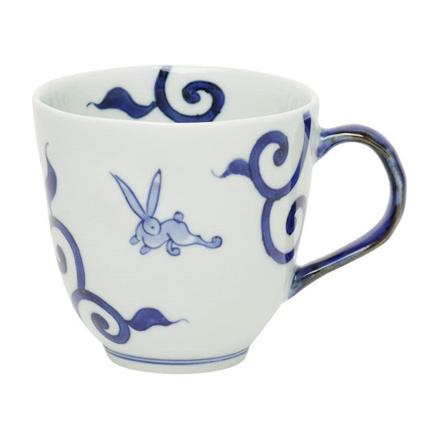 Mug 330ml, Bon-karakusa-usagi / Blue  | jpap.club – Japanese Tableware and Fine Gifts