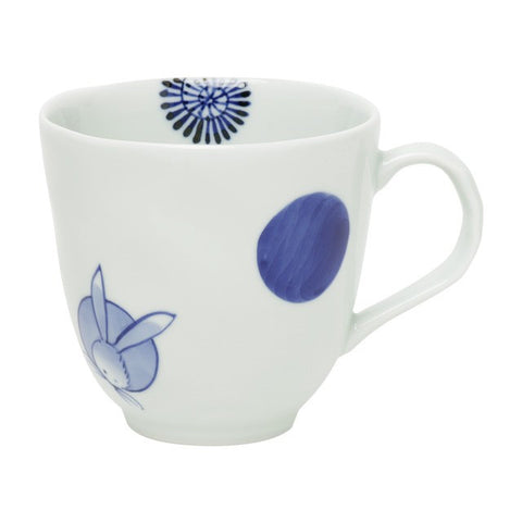 Mug 330ml, Marumon-karakusa-usagi  | jpap.club – Japanese Tableware and Fine Gifts