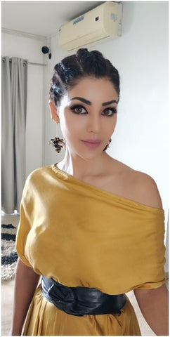 Debina Bonnerjee in Bellofox Bee Statements Earrings