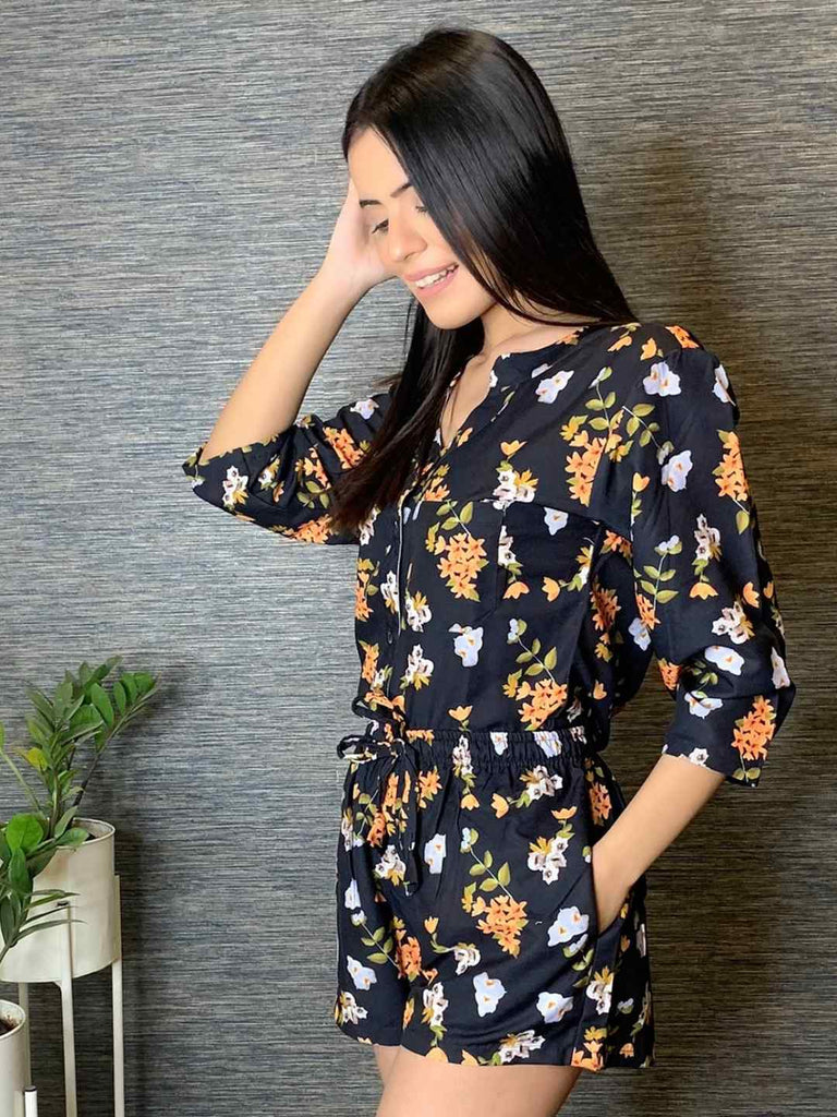 Floral Bliss NIght Suit