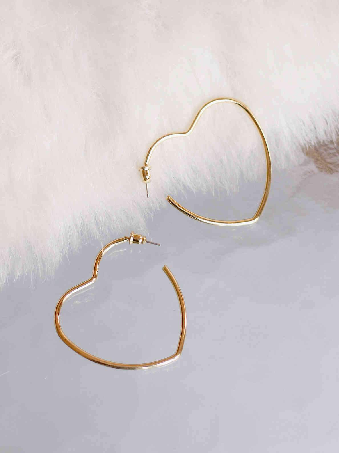 Bellofox Cut Heart Hoops Earrings BE3001