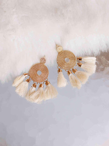 Bellofox Disc Tassels Earrings BE3051
