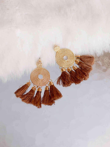 Bellofox Disc Tassels Earrings BE3053